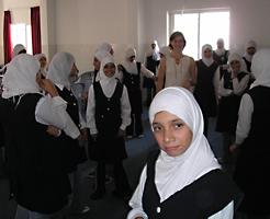 verksted�velse p� jenteskole i Ramallah